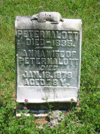 SMITH MALOTT, ANNA - Brown County, Ohio | ANNA SMITH MALOTT - Ohio Gravestone Photos