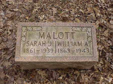 MALOTT, SARAH  J - Brown County, Ohio | SARAH  J MALOTT - Ohio Gravestone Photos