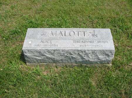 HANNCOCK MALOTT, ALICE - Brown County, Ohio | ALICE HANNCOCK MALOTT - Ohio Gravestone Photos