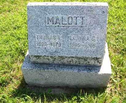 MALOTT, LORENA CECILLA - Brown County, Ohio | LORENA CECILLA MALOTT - Ohio Gravestone Photos