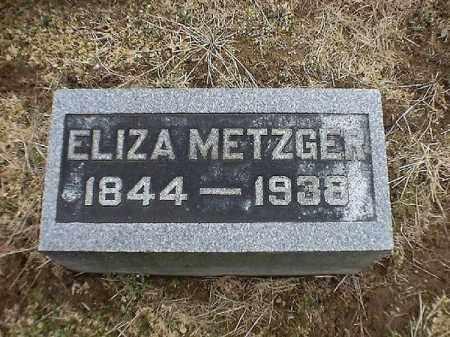 METZGER, ELIZA - Brown County, Ohio   ELIZA METZGER - Ohio Gravestone Photos