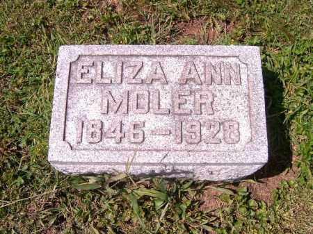 MOLER, ELIZA  ANN - Brown County, Ohio   ELIZA  ANN MOLER - Ohio Gravestone Photos