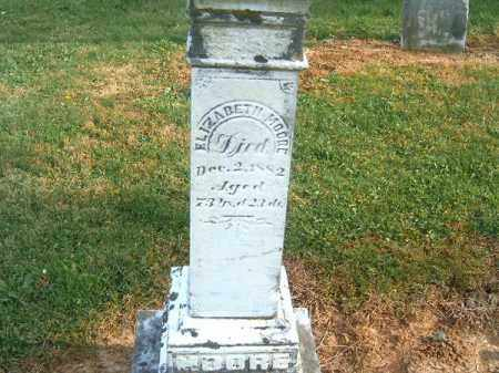 MOORE, ELIZABETH - Brown County, Ohio | ELIZABETH MOORE - Ohio Gravestone Photos