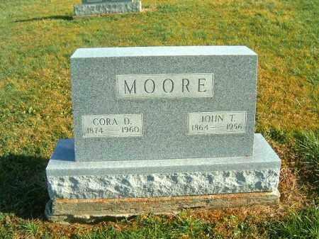 MOORE, CORA  D - Brown County, Ohio | CORA  D MOORE - Ohio Gravestone Photos