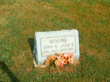 MOORE, JOHN  W - Brown County, Ohio   JOHN  W MOORE - Ohio Gravestone Photos
