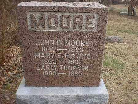 MOORE, MARY  E - Brown County, Ohio | MARY  E MOORE - Ohio Gravestone Photos