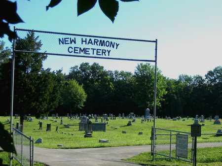 NEW HARMONY, CEMETERY VIEW- ENTRANCE - Brown County, Ohio   CEMETERY VIEW- ENTRANCE NEW HARMONY - Ohio Gravestone Photos