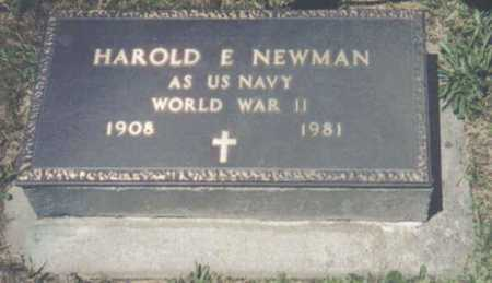 NEWMAN, HAROLD E. - Brown County, Ohio | HAROLD E. NEWMAN - Ohio Gravestone Photos