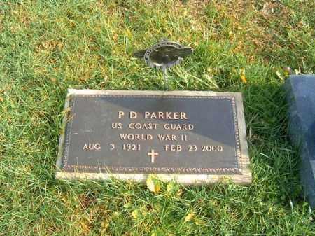 PARKER, P  D - Brown County, Ohio | P  D PARKER - Ohio Gravestone Photos