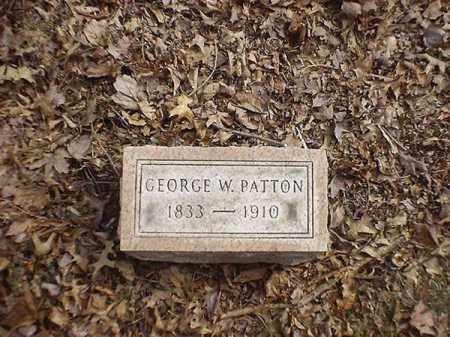 PATTON, GEORGE   W - Brown County, Ohio   GEORGE   W PATTON - Ohio Gravestone Photos
