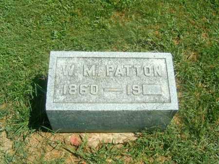 PATTON, W  M - Brown County, Ohio | W  M PATTON - Ohio Gravestone Photos