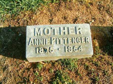 PITTENGER, ANNIE - Brown County, Ohio   ANNIE PITTENGER - Ohio Gravestone Photos