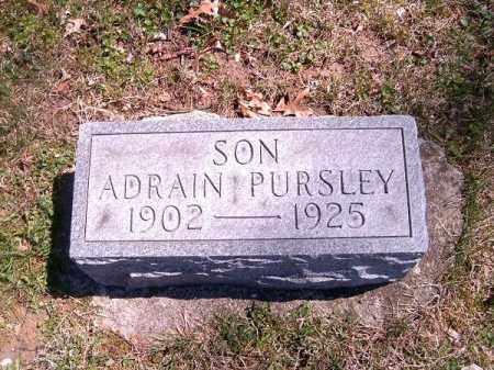 PURSLEY, ADRAIN - Brown County, Ohio | ADRAIN PURSLEY - Ohio Gravestone Photos