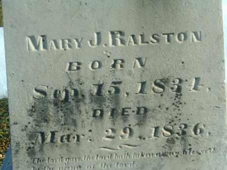 RALSTON, MARY  J - Brown County, Ohio   MARY  J RALSTON - Ohio Gravestone Photos