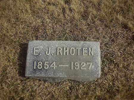 RHOTEN, E J - Brown County, Ohio   E J RHOTEN - Ohio Gravestone Photos