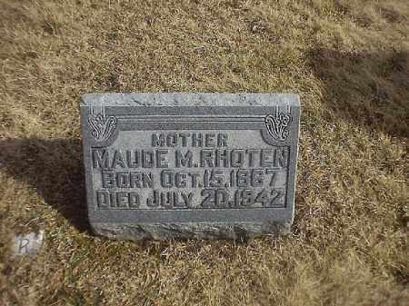 RHOTEN, MAUDE   M - Brown County, Ohio | MAUDE   M RHOTEN - Ohio Gravestone Photos