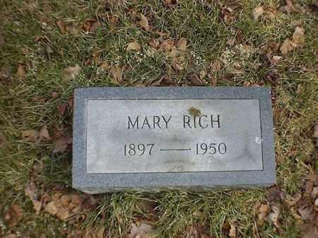 RICH, MARY - Brown County, Ohio   MARY RICH - Ohio Gravestone Photos