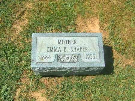 SHAFER, EMMA  E - Brown County, Ohio | EMMA  E SHAFER - Ohio Gravestone Photos