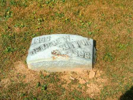 SUTTON, GEORGE   W - Brown County, Ohio   GEORGE   W SUTTON - Ohio Gravestone Photos