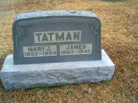TATMAN, MARY  J - Brown County, Ohio | MARY  J TATMAN - Ohio Gravestone Photos