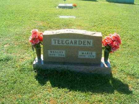 TEEGARDEN, WESLEY - Brown County, Ohio | WESLEY TEEGARDEN - Ohio Gravestone Photos
