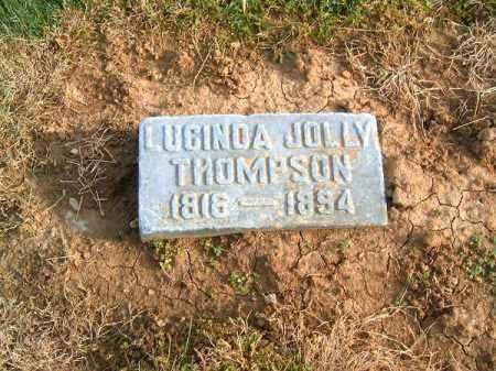 JOLLY THOMPSON, LUCINDA - Brown County, Ohio | LUCINDA JOLLY THOMPSON - Ohio Gravestone Photos