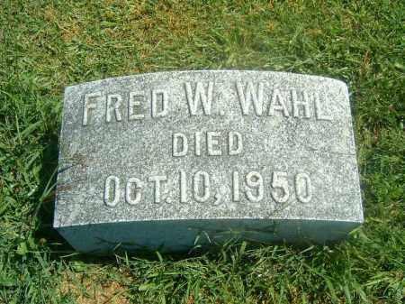 WAHL, FRED   W - Brown County, Ohio   FRED   W WAHL - Ohio Gravestone Photos