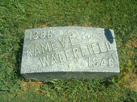 WATERFIELD, RAMEY  E - Brown County, Ohio   RAMEY  E WATERFIELD - Ohio Gravestone Photos