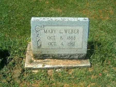WEBER, MARY   L - Brown County, Ohio | MARY   L WEBER - Ohio Gravestone Photos