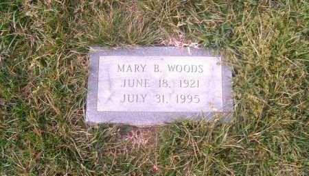 WOODS, MARY  B - Brown County, Ohio | MARY  B WOODS - Ohio Gravestone Photos