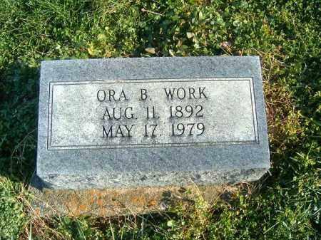 WORK, ORA - Brown County, Ohio   ORA WORK - Ohio Gravestone Photos