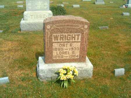 WRIGHT, ORT  R - Brown County, Ohio   ORT  R WRIGHT - Ohio Gravestone Photos