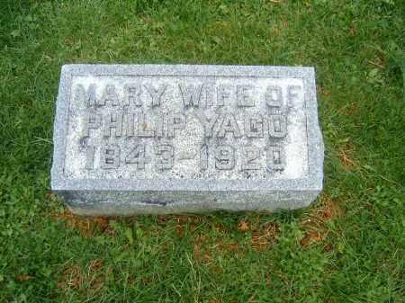 YAGO, MARY - Brown County, Ohio | MARY YAGO - Ohio Gravestone Photos