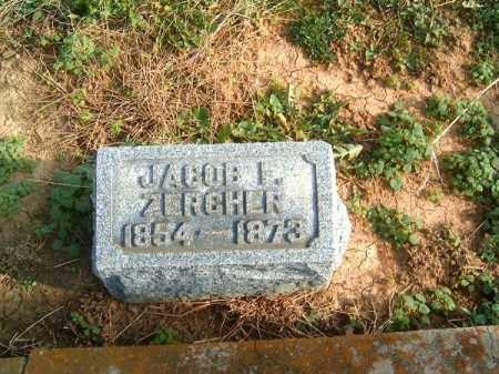 ZERCHER, JACOB  F - Brown County, Ohio | JACOB  F ZERCHER - Ohio Gravestone Photos