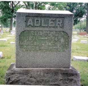 ADLER, GEORGE A. - Butler County, Ohio | GEORGE A. ADLER - Ohio Gravestone Photos