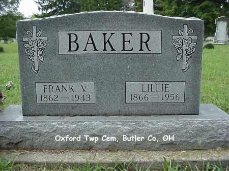 BAKER, LILLIE - Butler County, Ohio | LILLIE BAKER - Ohio Gravestone Photos