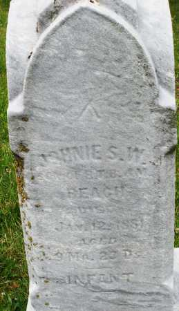 BEACH, JOHNIE S.W. - Butler County, Ohio   JOHNIE S.W. BEACH - Ohio Gravestone Photos