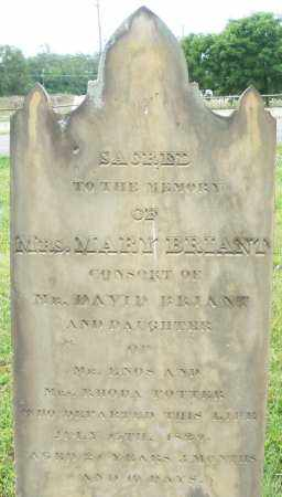 BRIANT, MARY - Butler County, Ohio | MARY BRIANT - Ohio Gravestone Photos
