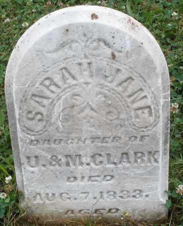 CLARK, SARAH  JANE - Butler County, Ohio   SARAH  JANE CLARK - Ohio Gravestone Photos