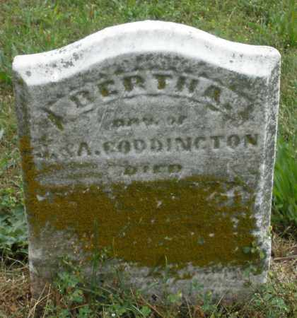 CODDINGTON, BERTHA - Butler County, Ohio | BERTHA CODDINGTON - Ohio Gravestone Photos
