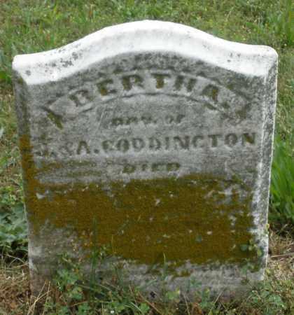 CODDINGTON, BERTHA - Butler County, Ohio | BERTHA CODDINGTON - Ohio Gravestone Photos