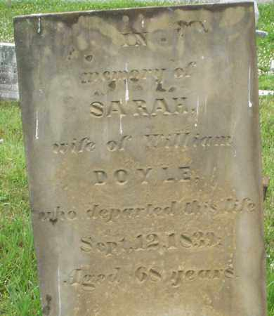 DOYLE, SARAH - Butler County, Ohio   SARAH DOYLE - Ohio Gravestone Photos