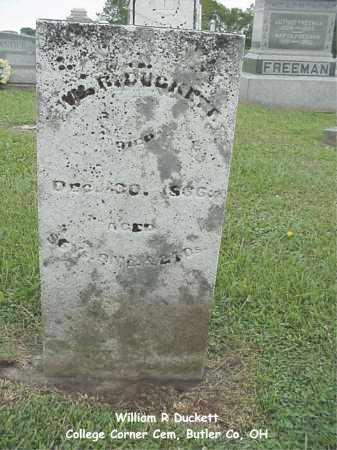 DUCKETT, WILLIAM - Butler County, Ohio | WILLIAM DUCKETT - Ohio Gravestone Photos