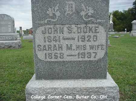 DUCKETT DUKE, SARAH - Butler County, Ohio | SARAH DUCKETT DUKE - Ohio Gravestone Photos