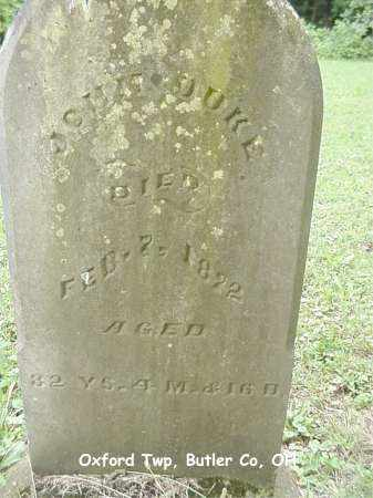 DUKE, JOHN - Butler County, Ohio | JOHN DUKE - Ohio Gravestone Photos