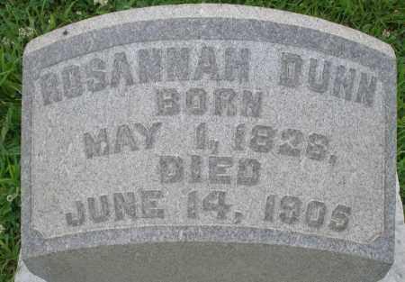 DUNN, ROSANNAH - Butler County, Ohio | ROSANNAH DUNN - Ohio Gravestone Photos