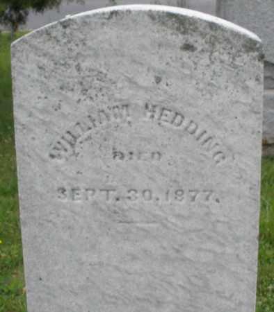 HEDDING, WILLIAM - Butler County, Ohio   WILLIAM HEDDING - Ohio Gravestone Photos