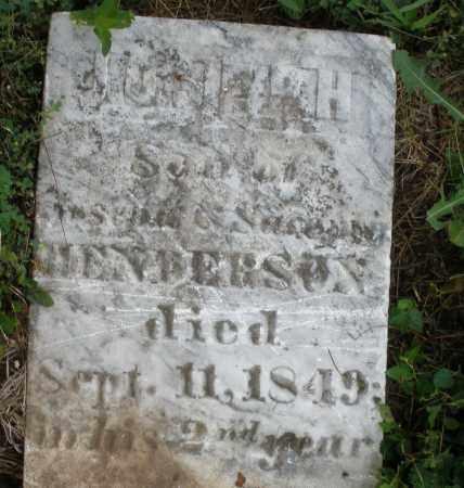 HENDERSON, JOSEPH - Butler County, Ohio   JOSEPH HENDERSON - Ohio Gravestone Photos