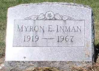 INMAN, MYRON E. - Butler County, Ohio   MYRON E. INMAN - Ohio Gravestone Photos
