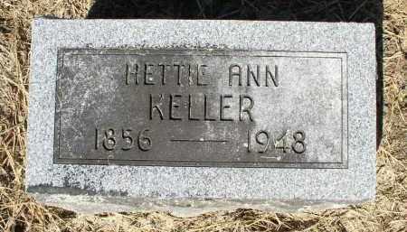KELLER, HETTIE ANN - Butler County, Ohio | HETTIE ANN KELLER - Ohio Gravestone Photos